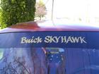 windsheild sunvisor strip with custom lettering.