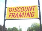 Discount Framing Sign On Highway
