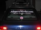 My Subaru with my business name.