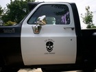 I just painted my 1976 Chevy K10 a cop car theme and the rest of the truck is skull and crossbones.
