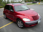 Red PT Cruiser with www.CRAFTAH.com lettering
