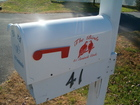 Side view of mail box