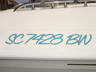 Custom numbers for Thackston boat