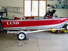 LUND Boat Decals, Numbers and model Pike Lse.
