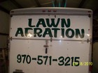 Lawn Aeration Lettering from Sign specialist.com