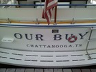 This is the decals applied to the transom of our 32 foot Marrinette cruiser