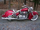 2004 vtx Honda reworked to resemble a 1947 Indian Chief, thus (Hondian)