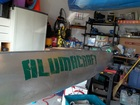 36 inch Aftershock Forest Green on my 17 foot canoe