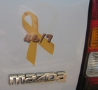Decal placed on the rear (rt. side) of my Mazda