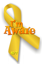 Childhood Cancer Awareness Ribbon