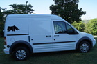 Rhino decal on Ford Transit Connect
