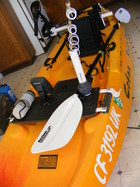 Kayak with a trolling motor needs a CF # in Calif.