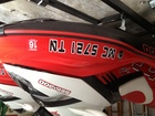 2008 Sea Doo RXT registration lettering