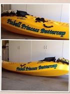 kayak decal Pinball Princess Buttercup