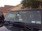 windshield decal 'Honey Badger'