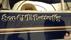 pontoon name.. Sea ONE Butterfly.  Missin you Owen.  In memory of our youngest son.