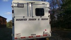 Back of horse trailer