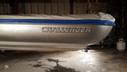 Metal flake silver boat decals with right lower metal flake black shadow