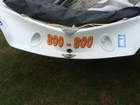 Awesome name on our 29er Skiff