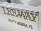 Engine Turned Gold Leaf Boat Name and Hailing Port