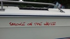 Boat name decal