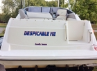Lettering on the Transom of my boat