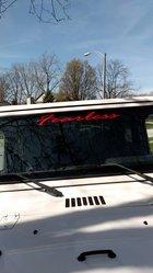 Fearkess on my Jeep windshield