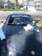 first NOVA Outlaws car club decal on my 2001 s2000
