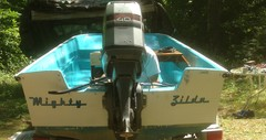 Boat named for its original owner, Raceway font