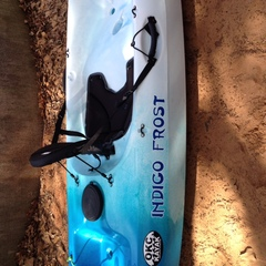 Indigo Frost on my kayak