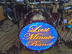 3M reflective lettering used for bass drum logo graphics.