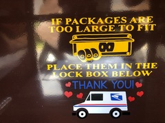 Mailbox Instructions 1 of 2