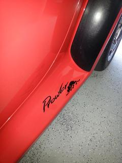 Decals placed on side panels on 1999 Plymouth Prowler